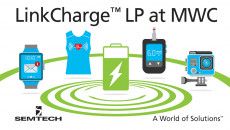 Semtech Debuts LinkCharge™ Wireless Charging Technology for Multiple Devices at Mobile World Congress LinkCharge™ LP technology platform simultaneously charges low-power wearables from a single transmitter