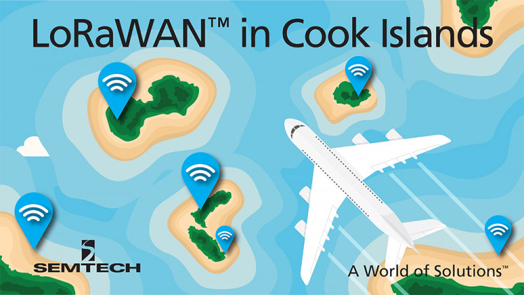 Semtech LoRa® Wireless RF Technology Featured in New South Pacific Region IoT Network LoRa Alliance™ Members KotahiNet and Loriot deploy LoRaWAN™ network in the Cook Islands