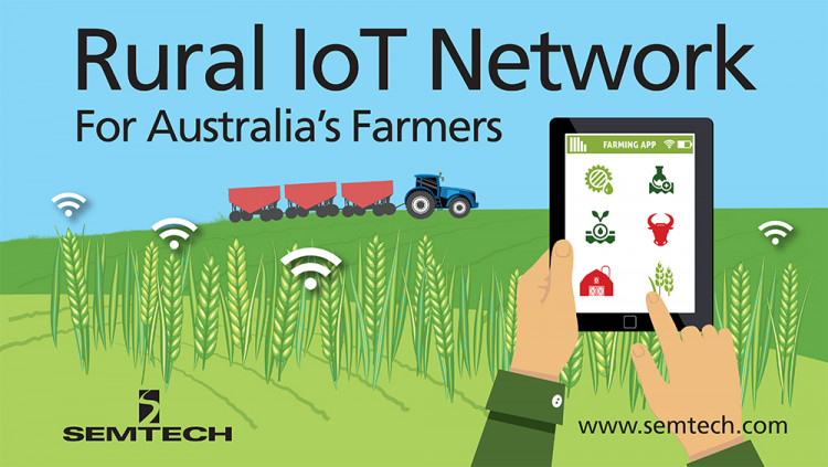 Semtech's LoRa Technology Used by NNNCo to Develop Rural IoT Network for Australia's Farmers With agriculture forecasted as one of the top five markets for IoT growth, the long-range, low-power LoRaWAN™-based network should help grow Australia's s