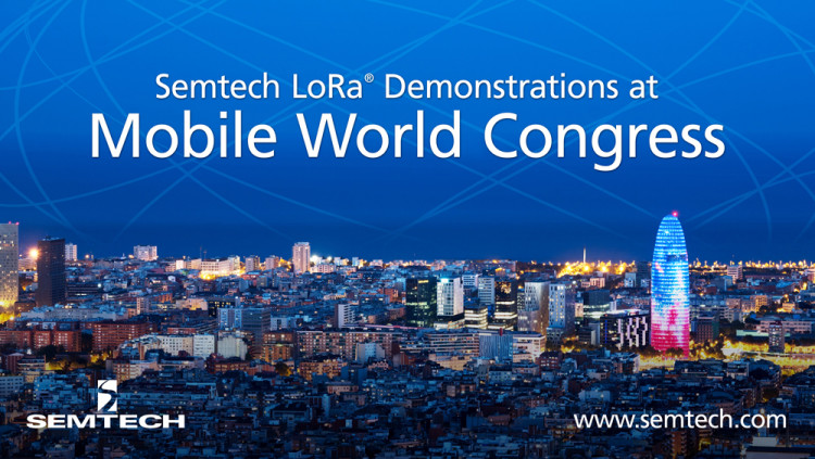 Semtech to Exhibit LoRa-Enabled IoT Applications at MWC Barcelona Displayed in the LoRa Alliance™ IoT Pavilion, LoRa Technology transforms multiple verticals with IoT demonstrations