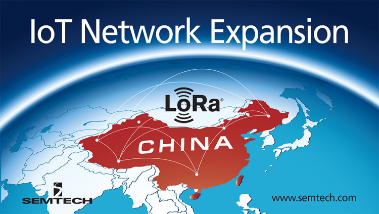 LoRaWAN-based Network Coverage with Semtech's LoRa Technology Grows in China ThingPark™ China launches an LPWAN IoT Network on the 'New Silk Road'