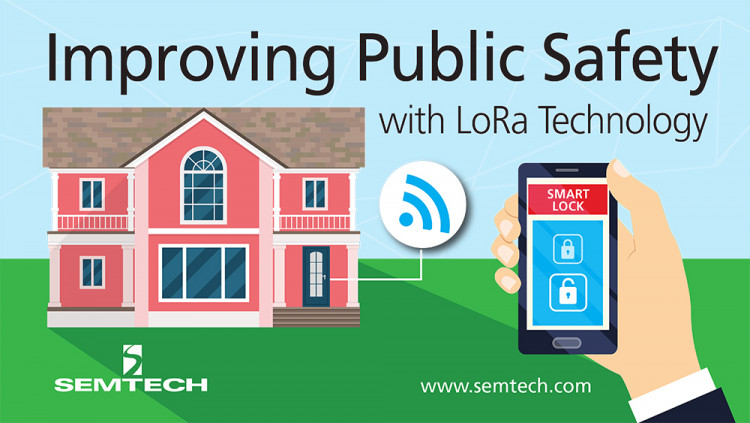 MI Products Leverage Semtech's LoRa Technology to Help Improve Public Safety Controllable with a mobile app, MI Products' LoRa-enabled electronic door lock has battery life up to three years