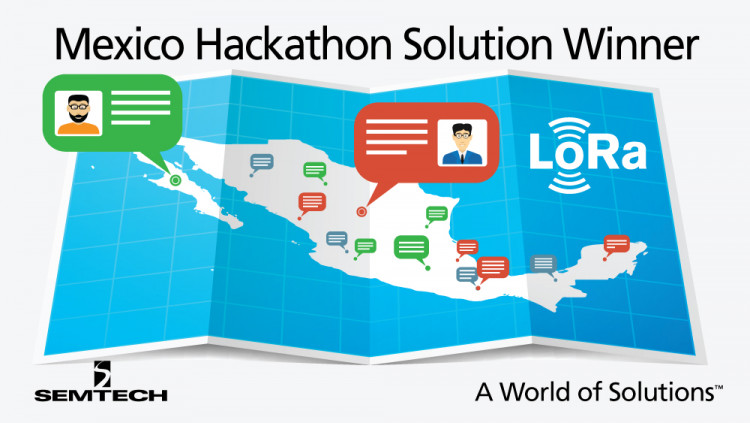 LoRa®-based Solution Won First Prize in Mexico Hackathon Aimed at Combating Poverty Team Brainiacs from Guanajuato, Mexico won one million pesos for Nodi, a free communication service for remote communities based on Semtech LoRa® wireless RF technology