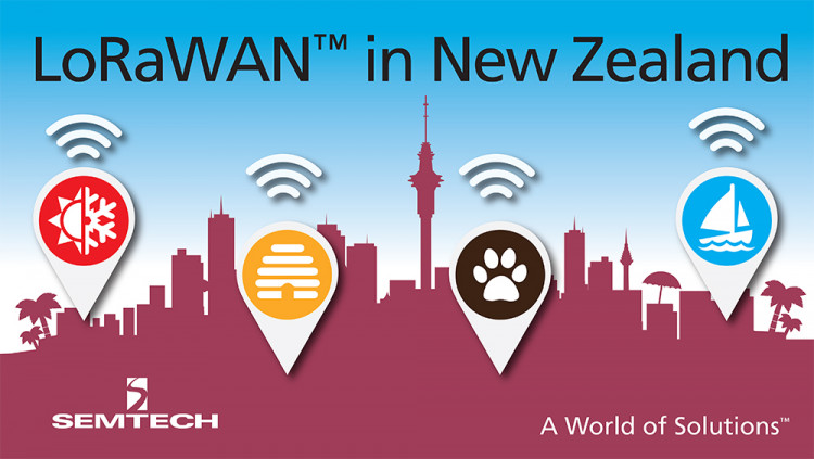 Semtech LoRa® Technology Selected for New IoT Network in New Zealand LoRa Alliance™ Members KotahiNet and Loriot deploy a LoRaWAN™-based network in New Zealand covering more than half the population in a matter of months