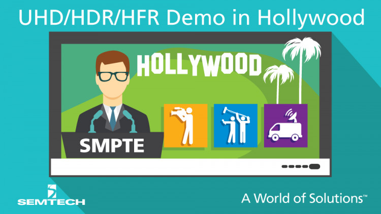 Semtech Analyzes SDI for Next-Generation Media Streaming at SMPTE Annual Technical Conference Broadcast and datacom products for ultra-high definition and high dynamic range media streaming demonstrated in booth 411