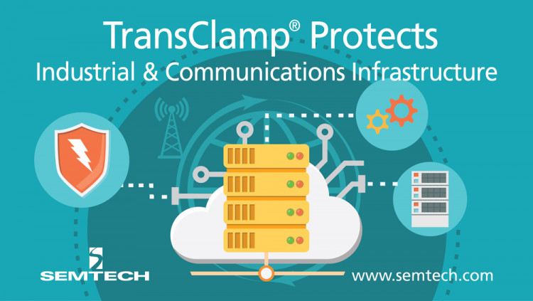 Semtech Expands TClamp Platform to Protect Telecom and Industrial Applications from Surge and ESD Threats Optimized for high surge handling, the new TClamp3312N provides extremely robust transient voltage protection in harsh electrical environments