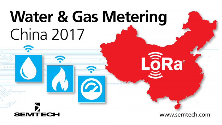 Semtech Showcases LoRa Technology at Water & Gas Metering China 2017 As smart water and gas metering adoption rises in China, LoRa Technology continues to be the connectivity of choice for water and gas applications